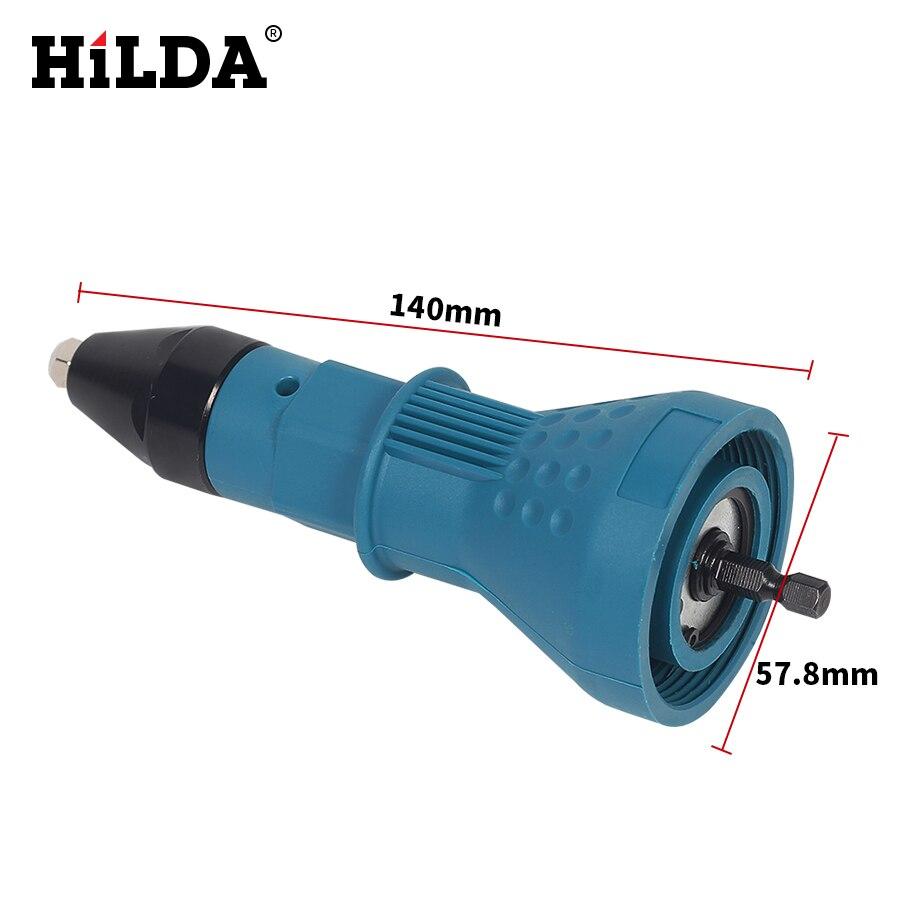 Image 5 - HILDA Electric Rivet Nut Gun Riveting Tool Cordless Riveting Drill Adaptor Insert Nut Tool Riveting Drill Adapter 2.4mm 4.8mm-in Nail Guns from Tools on