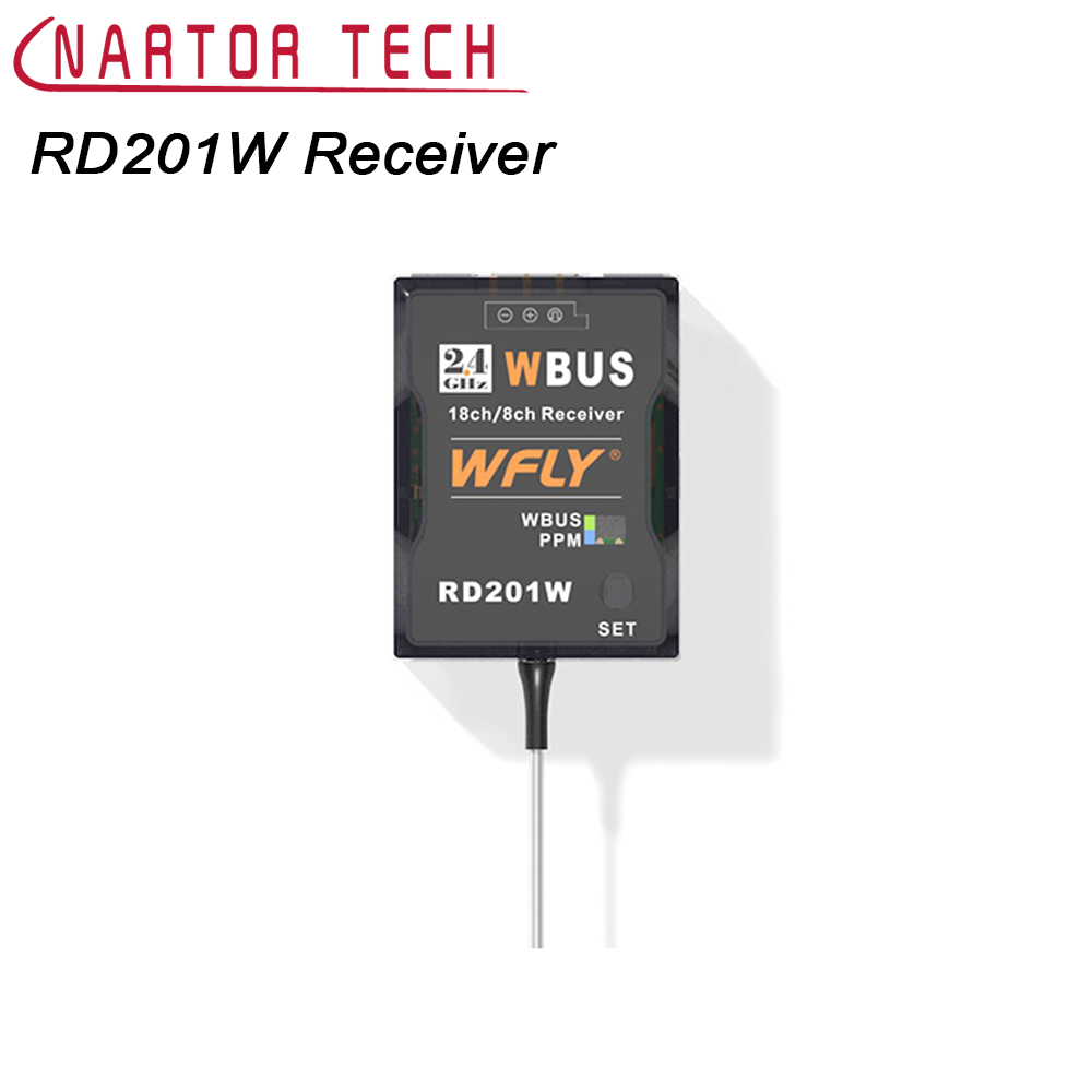 WFLY WFT07 WFT09II Mini Receiver RD201W WBUS Receiver Compatible with WFLY 2.4G Remote Control Support PPM/WBUS