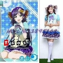 Amor vivo tojo nozomi cosplay adulto princesa belle dress trajes de anime japonés dulce lolita dress amor cosplay vivo nozomi