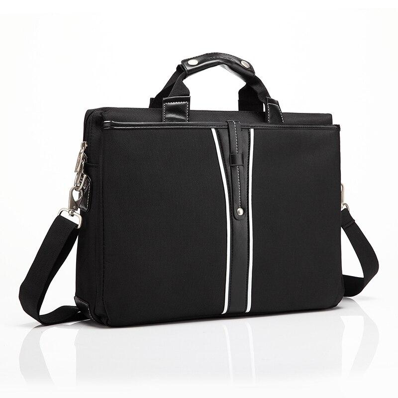 2018 haute qualité à la mode noir ordinateur portable sac à bandoulière pour homme ordinateur portable sac 15.4 pouces ordinateur accessoires sacoche pour ordinateur portable