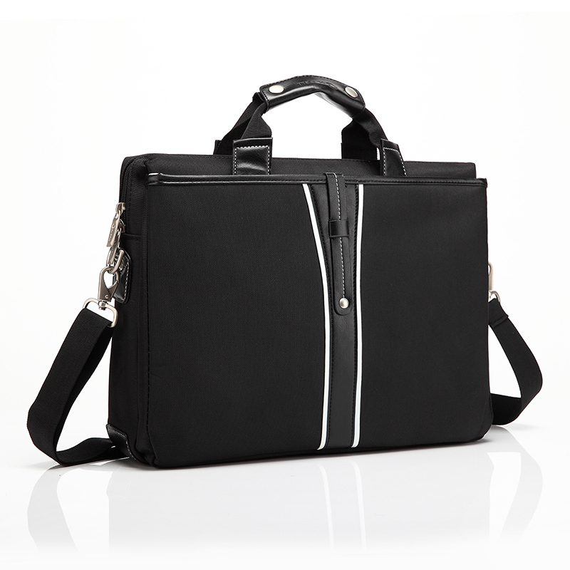 2014 High Quality Fashionable Black Laptop Shoulder Bag for Man Notebook Bag 15.4 Inch Computer Accessories
