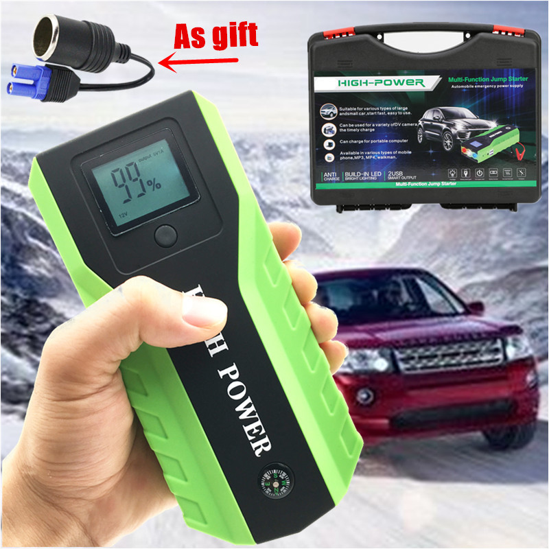 89800 mAh essence Diesel saut démarreur 12 V 600A multi-fonction dispositif de démarrage batterie externe chargeur de voiture pour voiture batterie voiture démarreur