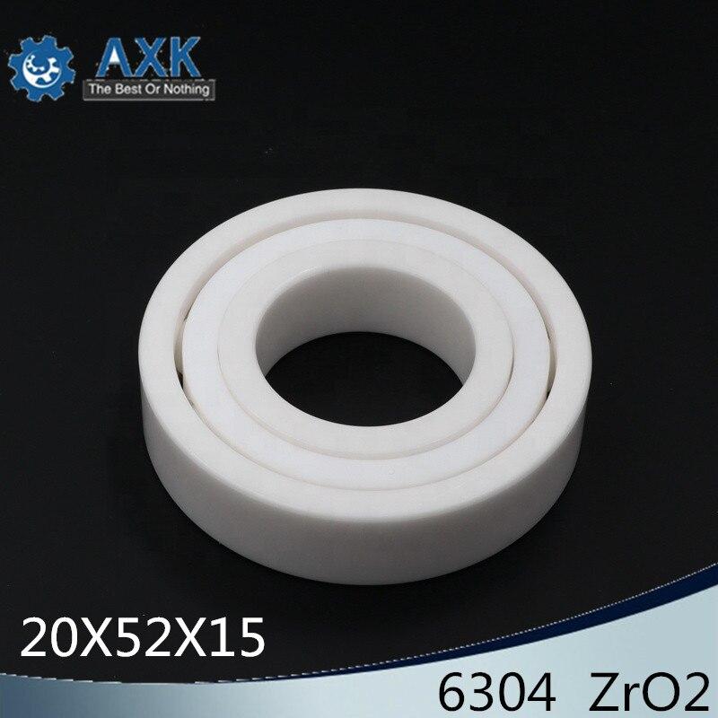 6304 roulement en céramique complet (1 PC) 20*52*15mm ZrO2 matériel 634CE tous les roulements à billes en céramique de zircone