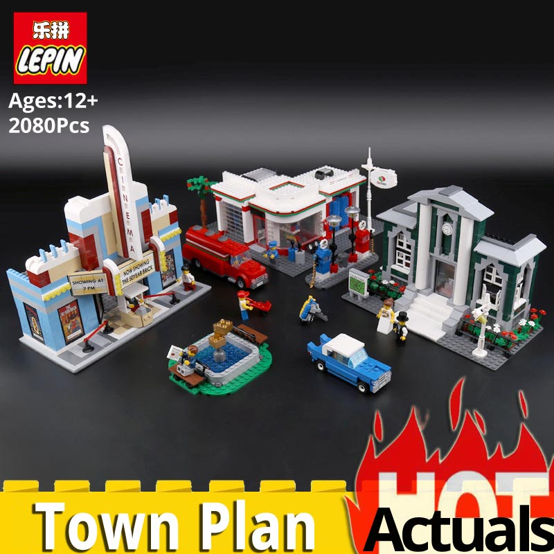 цена Lepin 02022 City 50th Anniversary Town Plan Building Blocks Bricks educational DIY Toys for children Compatible legoinglys 10184