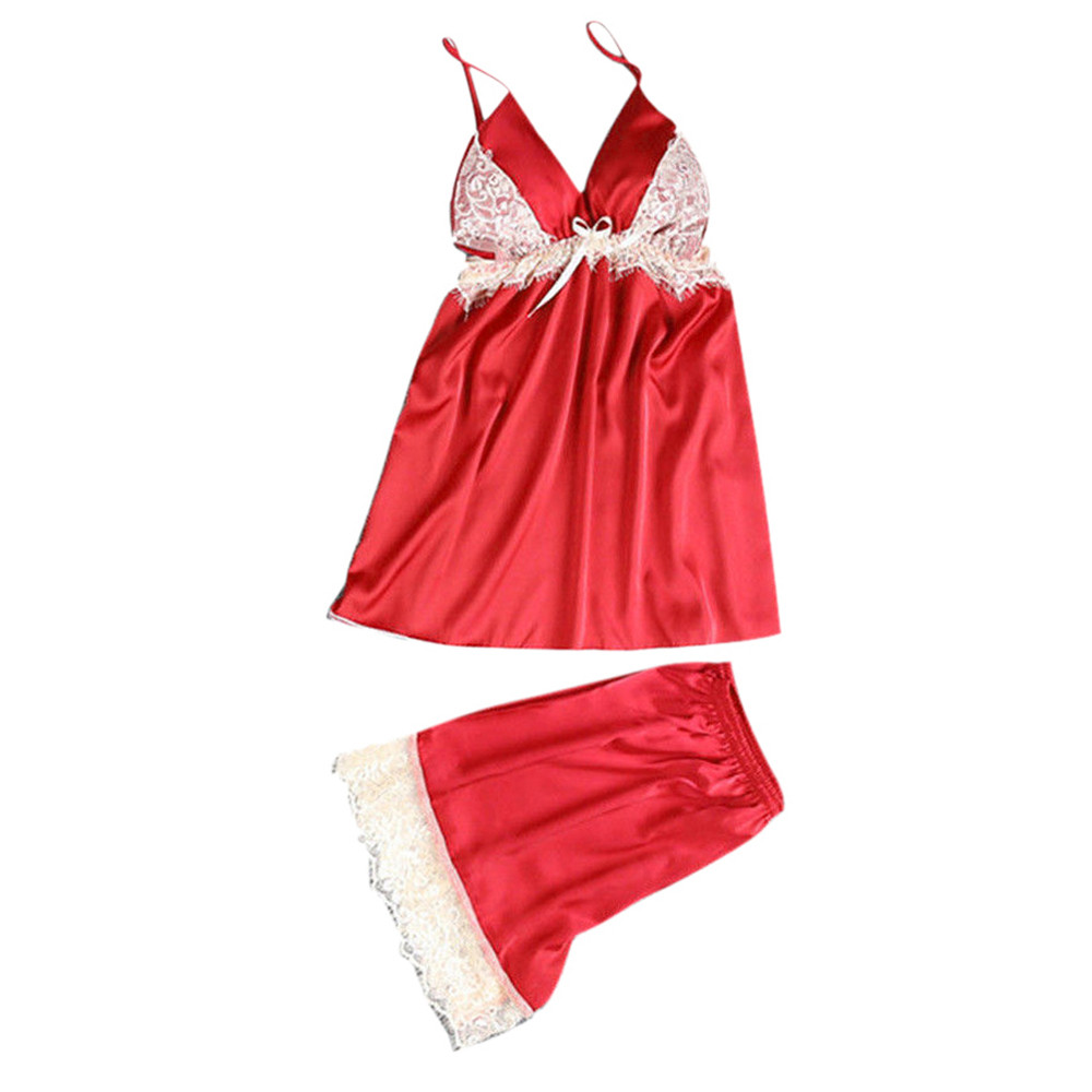 Sparsam Mode Pyjamas Für Frauen Startseite Kleidung Sexy Spitze Nachtwäsche Dessous Babydoll Versuchung Unterwäsche Nachthemd # Xtn Unterwäsche & Schlafanzug