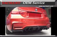 NEW Carbon Fiber FRP Painted With Varnish Rear Bumper Diffuser Fit For 14 16 F80 M3 F82 F83 M4 VRS Style Rear Diffuser Lip