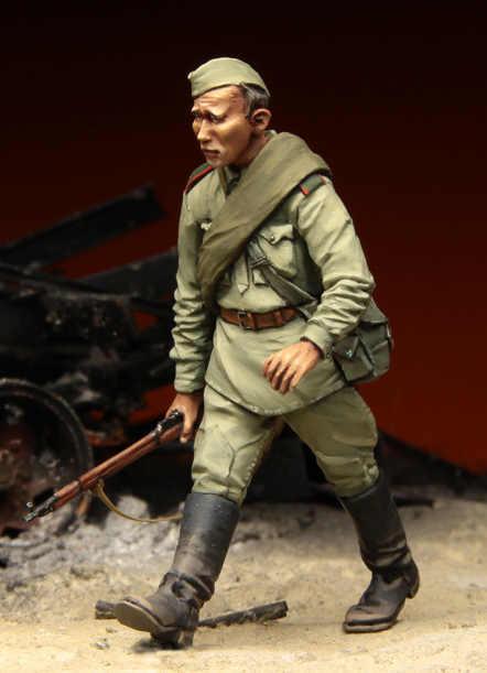 [Tuskmodel] 1 35 schaal resin model cijfers kits sovjet Soldaten 3 Stalingrad