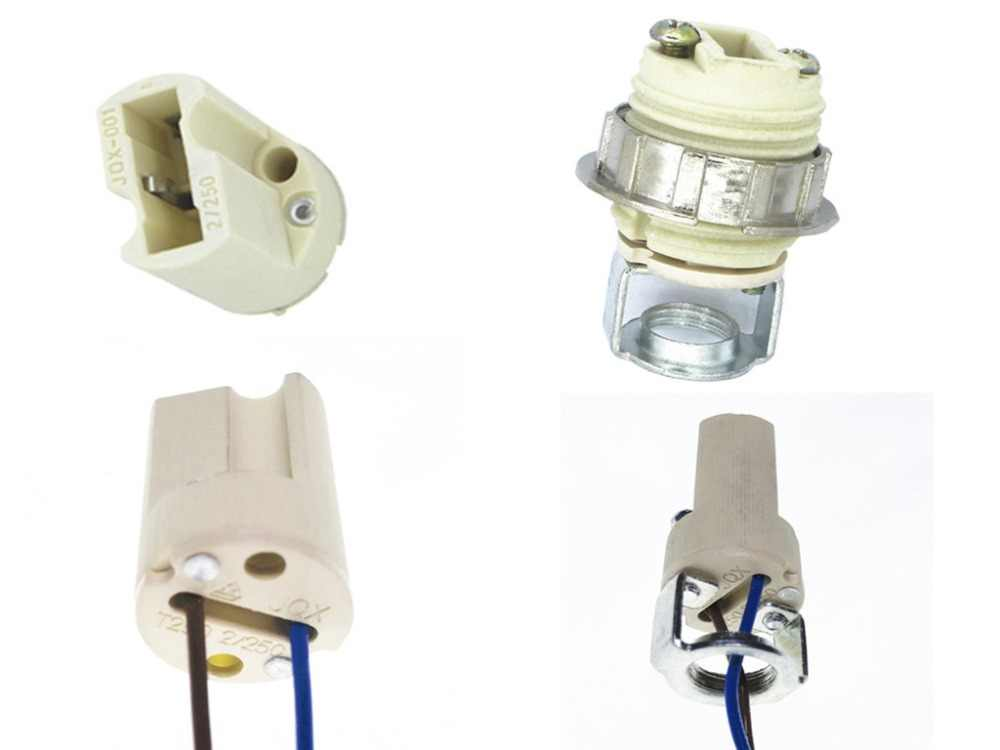 ceramics G9 base g9 holder no wire/with wire/with Bracket Lampholder ceramics base High temperature connector Lampholder g9 base