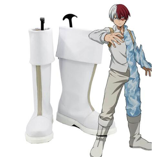 My Hero Academia Boku no Hero Academia Shoto Todoroki Cosplay Shoes Boots Halloween Party Boots for Adult Men Shoes Accessories