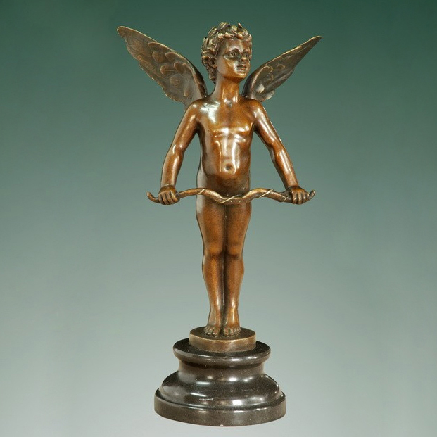 ATLIE BRONZES Classical Myth Bronze Statue Cupid sculpture copper figurine home decoration Gifts in Statues Sculptures from Home Garden