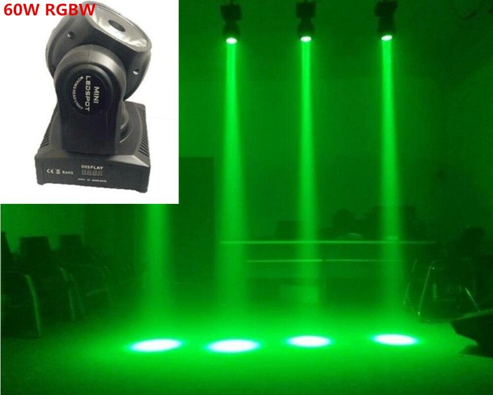 цена на 2pcs/lot 60W rgbw 4in1 wash light beam light mini moving head light stage light