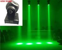 2pcs/lot 60W rgbw 4in1 wash light beam light mini moving head light stage light