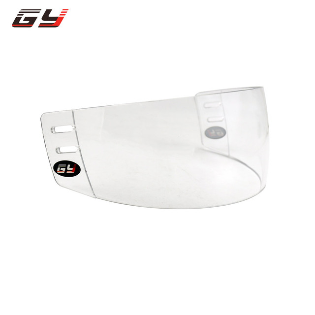 GY Hot sale! GY-V300 clear ice hockey visor hockey face shield protective gear anti-scratch inside anti-fog ice hockey helmet