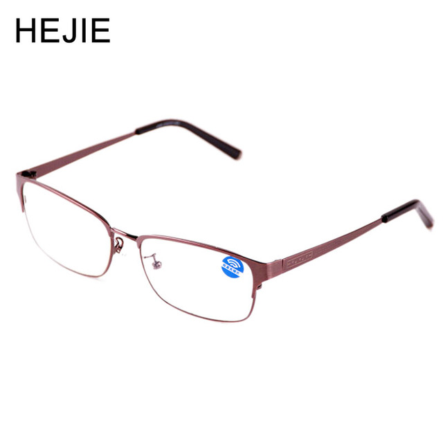 a9de717486e HEJIE Classic Men s Anti Blue Rays Reading Glasses Stainless Steel Frame  High Clear Anti Glare Lens Diopter+1.0-+4.0 Y1176