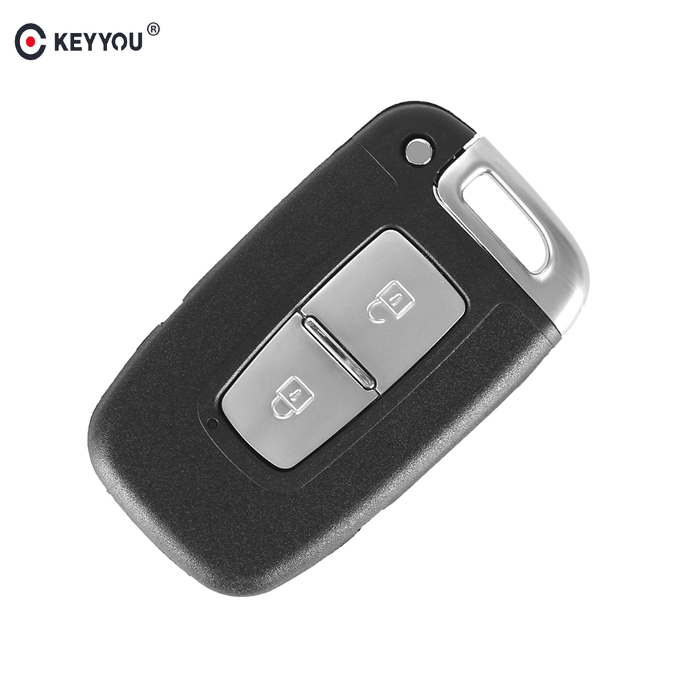 KEYYOU Keyless Entry Fob Cover 2 Buttons Remote Key Smart Card Shell Case Fit For Hyundai Genesis Coupe Sonata