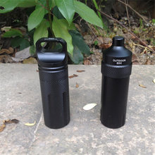 First Aid Cartridge Survival Waterproof Tank Aluminum Medicine Pill Bottle CNC Outdoor Mini Container EDC Camping Equipment AA48