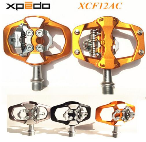 Xpedo XCF12AC Ultralight 295g Mountain Bike Pedal MTB Auto Lock Bicycle Pedals 3 Bearing High Strength road bike lock pedals taiwan wellgo bearing mtb bicycle pedals c280 city bike self lock pedals