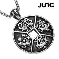 2018 JUNG New Chinese Style Copper Stainless Steel Vintage Trendy Chain Pendant Accessories Necklace Jewelry Gift