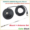 New Arrival KINNUOTA BMW58 Color Black MAGNETIC MOUNT with KINNUOTA SP-860R 144/430MHz Dual Antenna/Mount Antenna Set