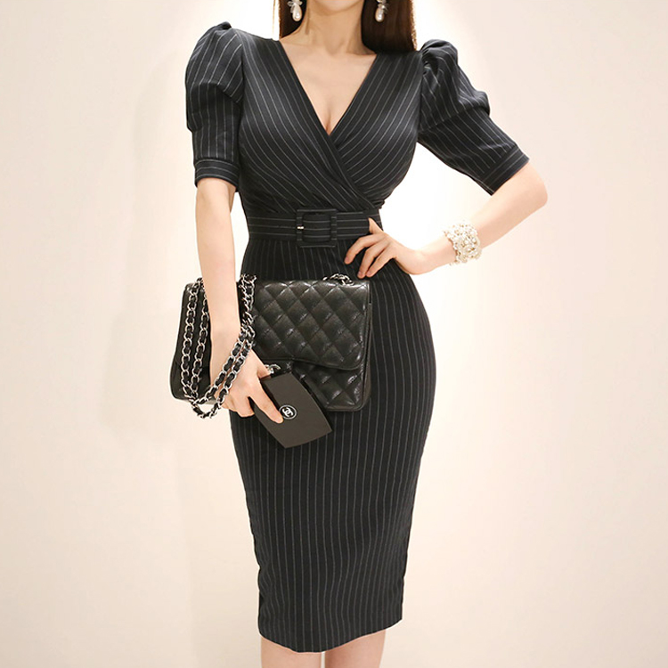 3369d2d2cfc77 2019 Women Summer Office Lady Work Wear Slim Vestidos Sleeveless ...