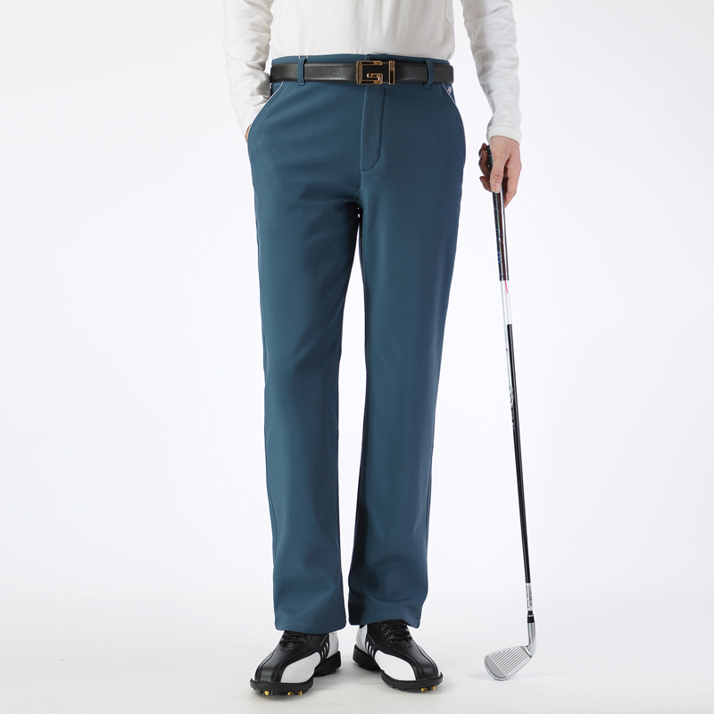 Brand Golf Clothes Straight Men Pants Thick Windproof Trousers Cultivate Male Velvet Elastic Pant Winter Sportwear Trouser POLO