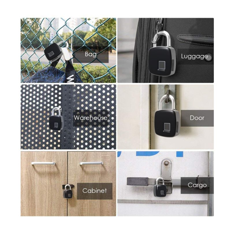 Smart Fingerprint Padlock IP65 Waterproof Keyless Anti-theft Suitcase Door Lock  Smart Fingerprint Padlock IP65 Waterproof Keyless Anti-theft Suitcase Door Lock