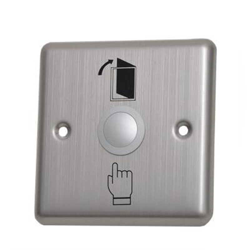Stainless Steel Exit Button Wall Mount Exit Button Push Door Release Exit Button Switch For Access Control free shipping 2pcs lot stainless steel push door release exit button switch for door access control