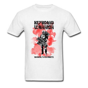 American Keyboard Warrior Men T-Shirts Novelty Hip Hop Brand New Tshirt Men's Java Awesome T Shirt For Men Combed Heavy Metal image