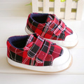 Hot sale Total autumn and winter plaid all-match slip-resistant baby shoes toddler shoes baby shoes girls shoes male