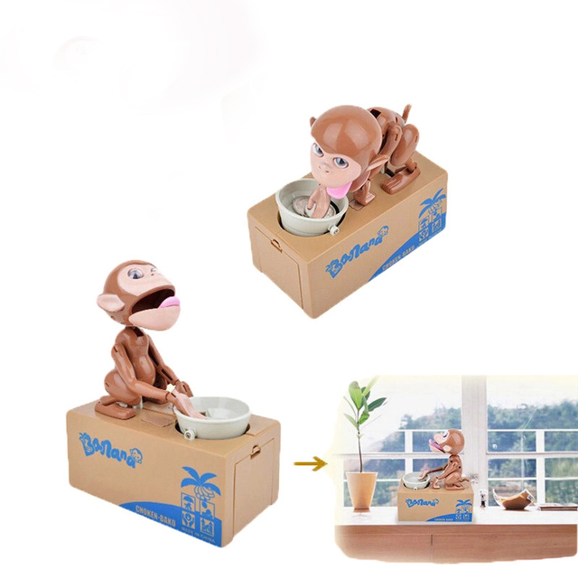 ACTIONCLUB Monkey Saving Box Mechanical Adorable Kid Stealing Money Coins Collection Birthday Gifts Home