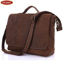 Vintage Genuine Leather Crossbody Shoulder Bag For Men Cowhide Male Business Handbag Briefcase Fit For 13 Inch Laptop PR097108