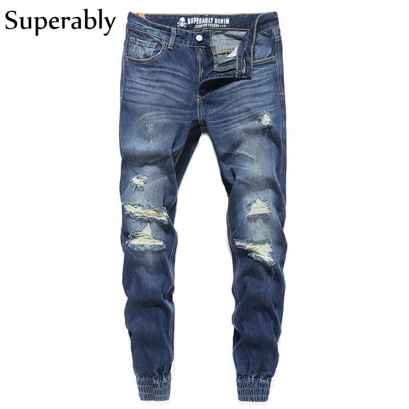 European American Fashion Street Men Jeans Cargo Pants Youth Stylish Blue Color Denim Jogger Jeans Men Brand Skateboard Pants european youth policy regarding active youth participation