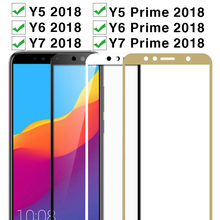Protective Glass For Huawei Y5 Y6 Y7 Prime 2018 Tempered Glas Case On Huawey Y 5 6 7 5y 6y 7y Y52018 Y62018 Y72018 Protect Film(China)
