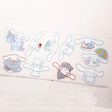 1Sheet new Cartoon Sanrio Cinnamoroll Pudding Dog Twin Stars penguin Waterproof Sticker Glass switch Decor Stickers Classic Toys(China)