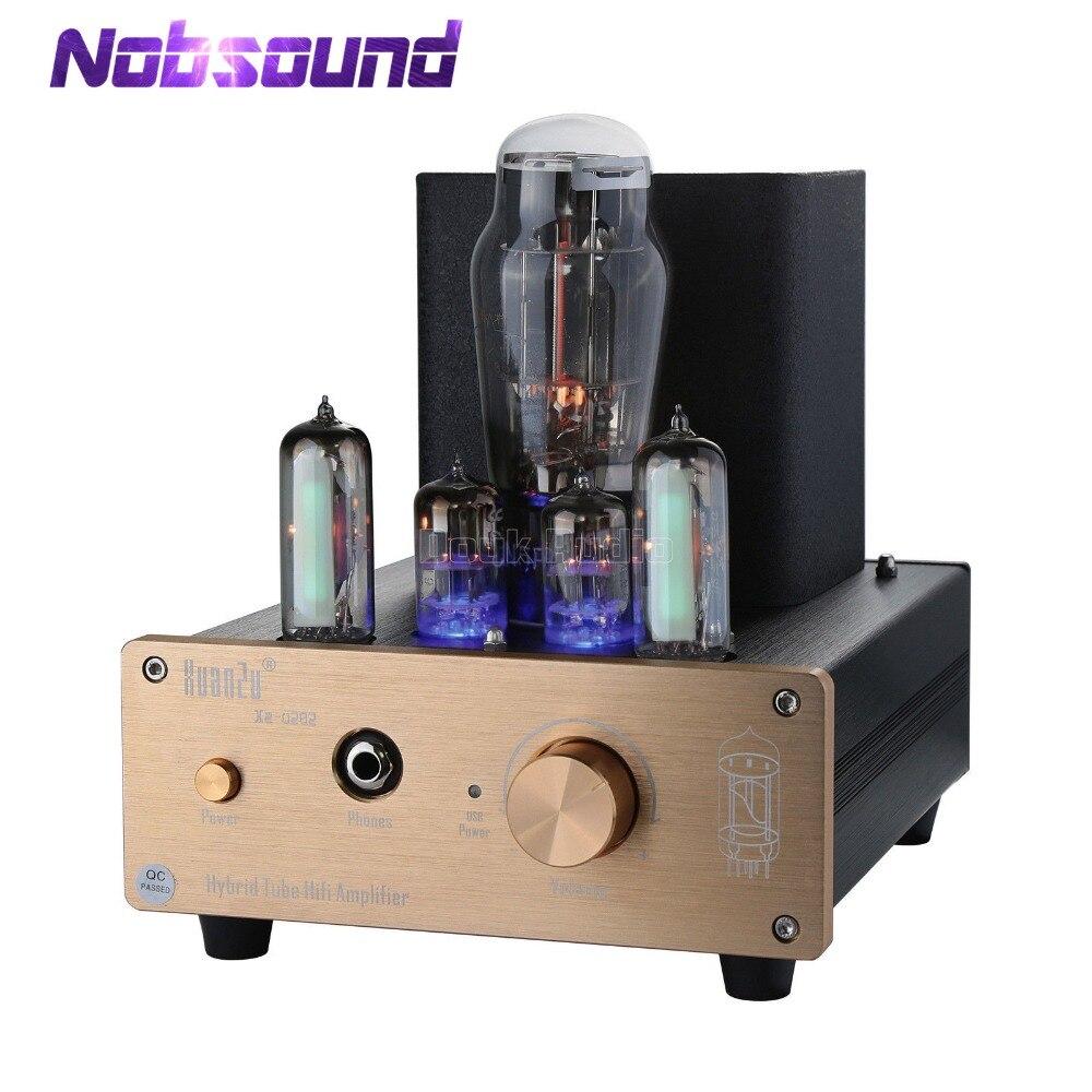 Nobsound hybride classe A 6N5P + 6N3 Tube de Valve pré-amplificateur USB DAC Audio Decorder HiFi ampli casque