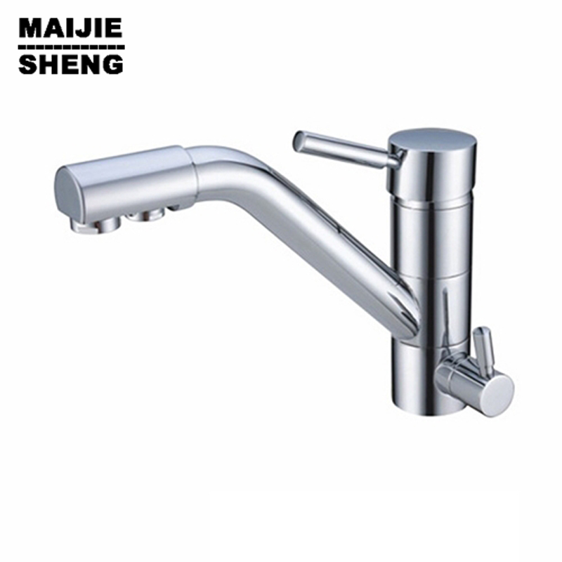 Torneira Cozinha Pure Drinking Water Filter Faucet Kitchen 3 Way Mixer 2017Grifos Cocina Dual Holder Single Hole Ceramic None