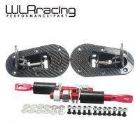 WLRING STORE- D1 New Universal Racing Lock Plus Flush Hood Latch Pin Kit, Carbon Fiber, JDM style without key WLR-BPK-D31