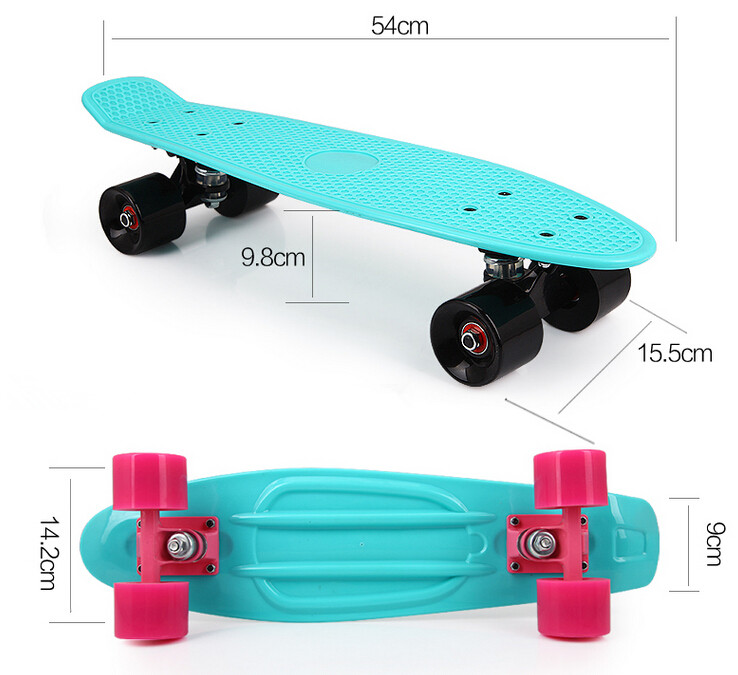 S003 Free shipping Children's skateboard Brush street edge tool Highway skateboard fish plate Deck Single become warped plate 4 wheel electric skateboard single driver motor small fish plate wireless remote control longboard waveboard 15km h 120kg