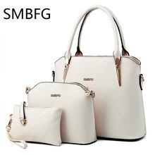 Women Leather Handbags 3 set of the composite bag Female Sweet Lady Fashion Handbag Messenger Shoulder Messenger Crossbody drop
