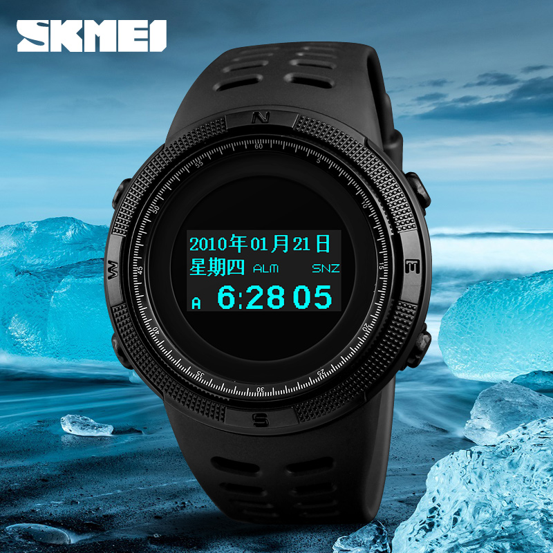 SKMEI Outdoor Sports Watches Waterproof Pedometer Calories Digital Watch Fashion Compass Thermometer Wristwatches Relogio new compass watch men outdoor military calories pedometer digital sports watches waterproof clock relojes relogios masculino