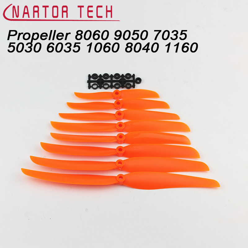 Nartor 10PCS Orange Direct Drive Electric Propeller EP1060 EP9050 8060 8040 7035 6030 5030