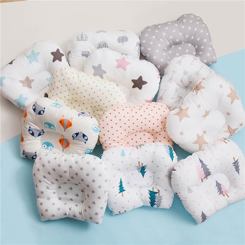 12 Colors Cotton Baby Head Shaping Nursing Pillow Protection From Flat Head Breathable Infant Cartoon Pillows
