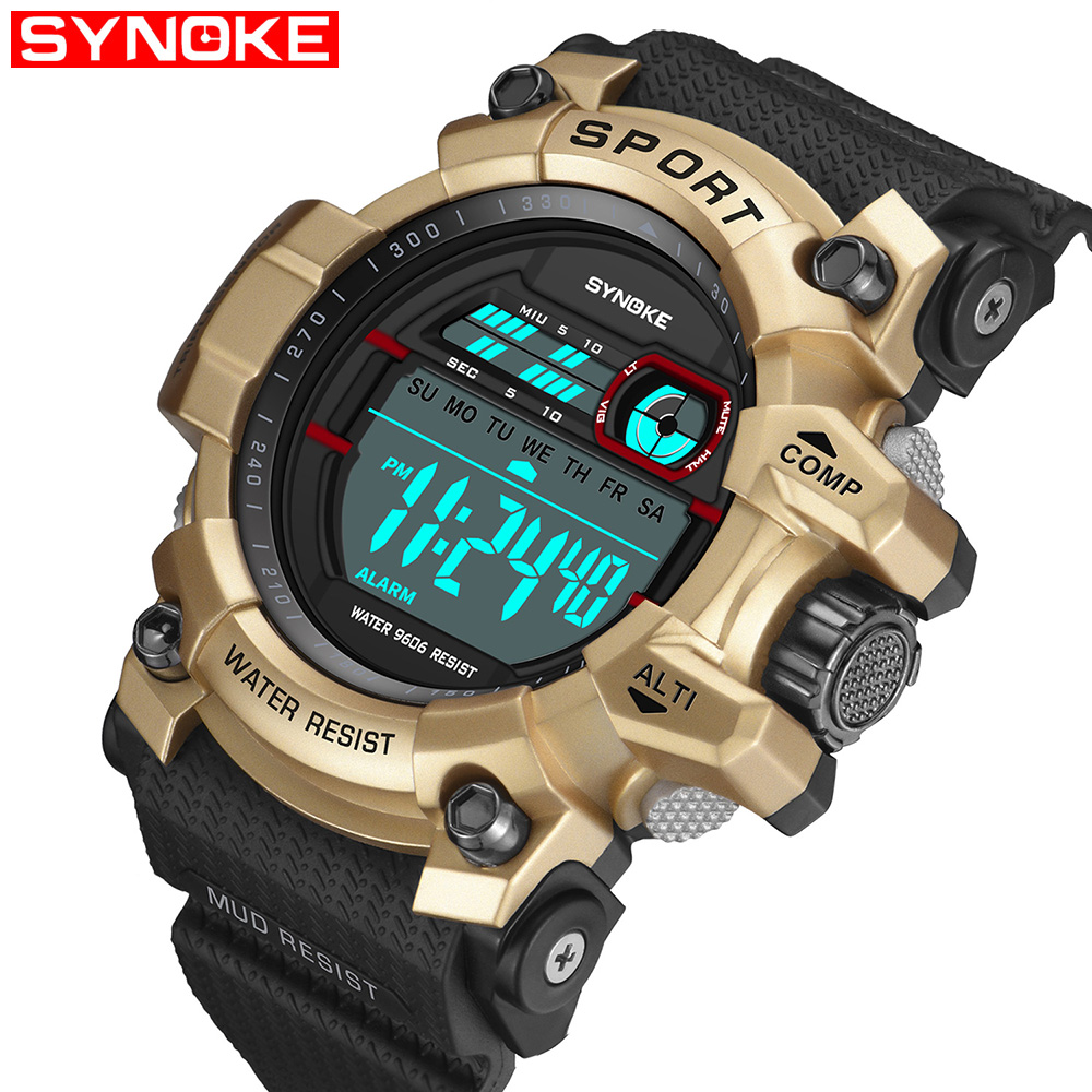 SYNOKE Mens Watches Outdoor Sports Waterproof Large Screen Display Back Light Alarm Clock Cross-border Electronic Shcok WatchSYNOKE Mens Watches Outdoor Sports Waterproof Large Screen Display Back Light Alarm Clock Cross-border Electronic Shcok Watch
