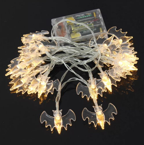 Battery Operated 2m 20leds Warm White Purple Bat Fairy String Lights For Halloween Garden Window