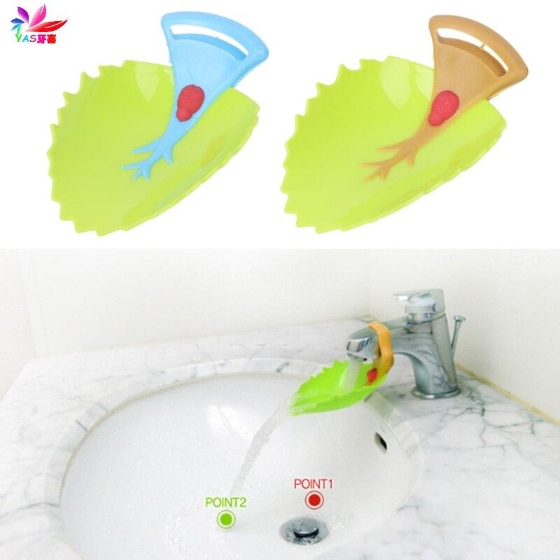 Ausdauernd Cartoon Blatt Waschbecken Verlängerung Wasserhahn Kinder Kinder Waschen Hand Wasser Guide Gerät