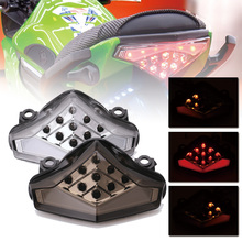 SPEEDPARK Motorcycle Rear taillight Tail Brake Turn Signals Integrated Led Light Lamp for Kawasaki ER-6 N/F 2012-2014