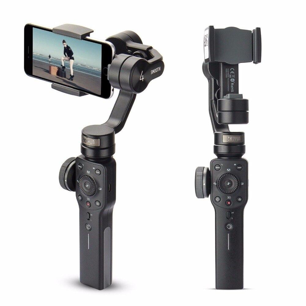 Zhiyun Lisse 4 3-Axes De Poche Cardan Stabilisateur Mobile Téléphone Pour xiaomi iPhone X Samsung Galaxy S9 Plus Smartphone withTripod