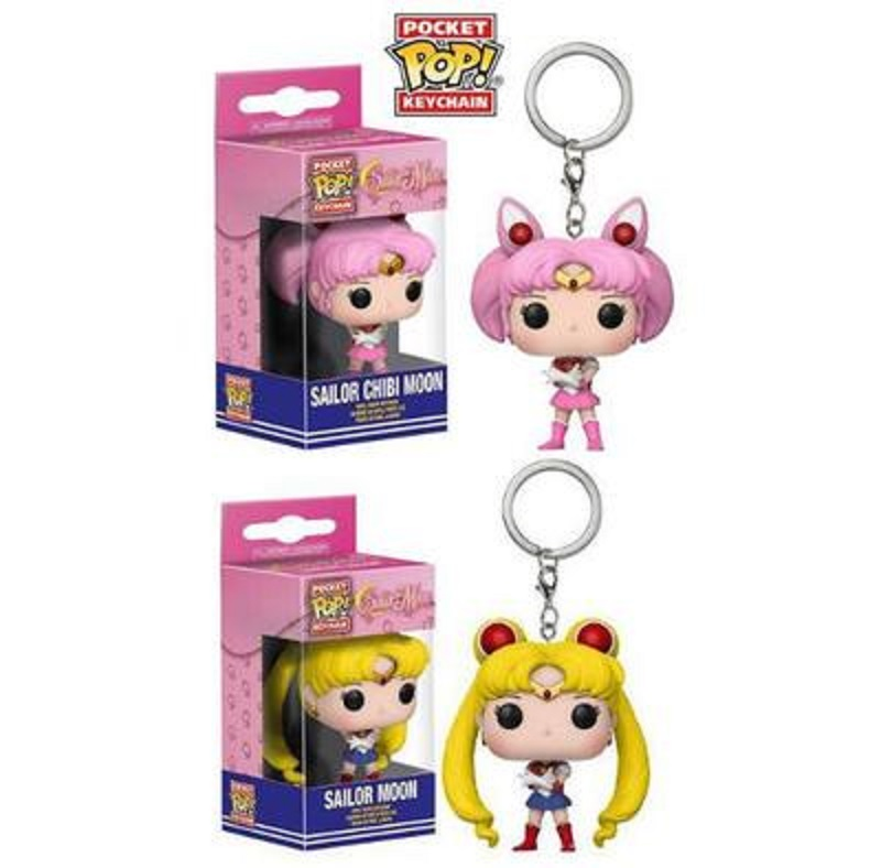 Funko POP Pocket Sailor Moon Keychain Sailor Chibi Moon Action Figure Toys