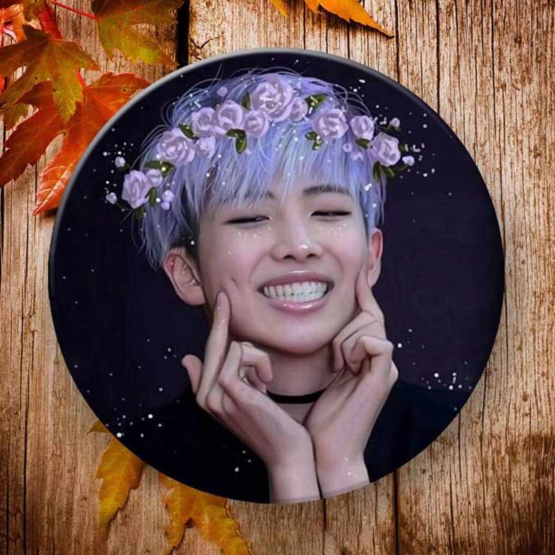 Корейский KPOP Bangtan мальчиков альбом брошь крылья булавка приспособление для бейджа для одежды шляпа украшение для рюкзака