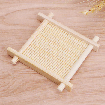Solid Wood Tea Tray Drainage Cup Teapot Mat Gongfu Tea Table Serving Plate image